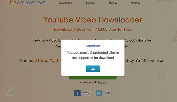 Fail to Download YouTube Music