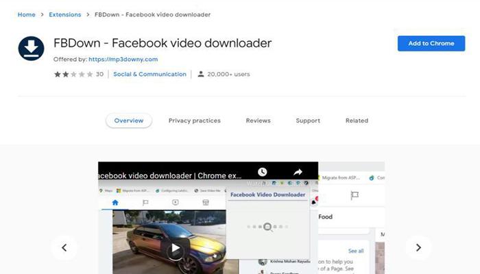 FBDown Facebook Video Downloader