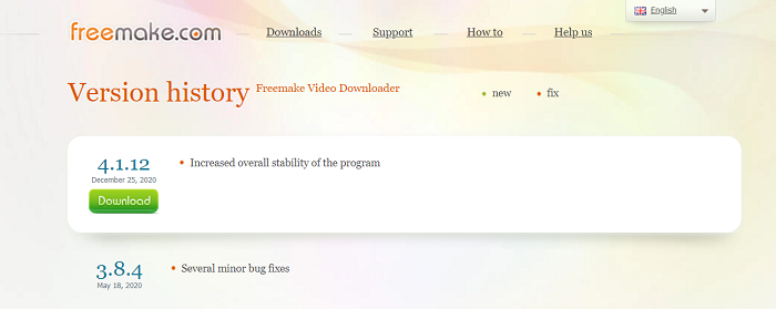 Freemake Video Downloader Update History