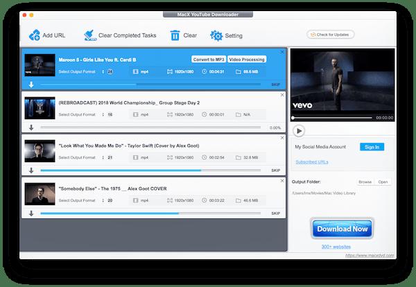 Mac YouTube Downloader Interface