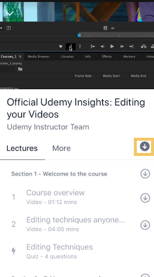 Mobile Download All Udemy Lectures