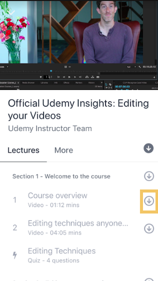 Mobile Download Single Udemy Lecture