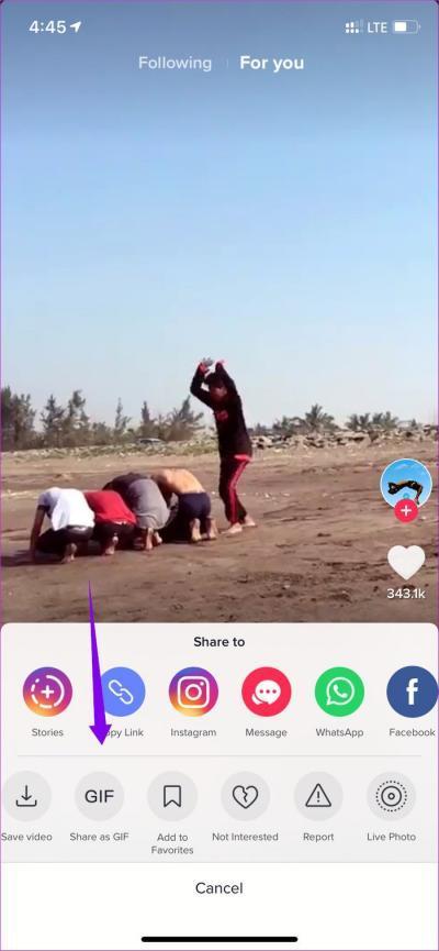 Save TikTok Video as GIF