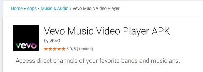 Vevo Music Video Player